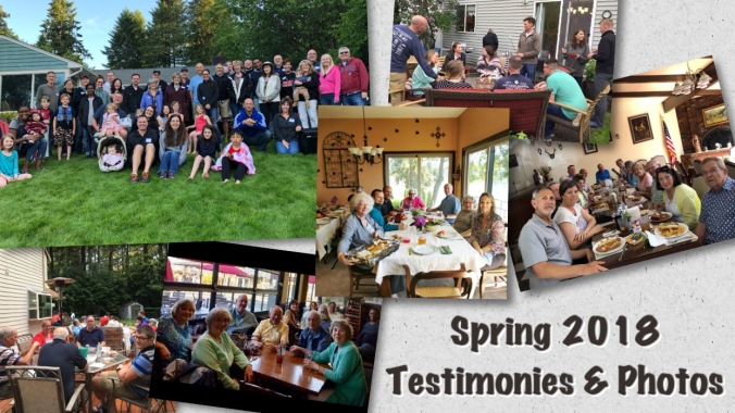 Sring 2018 testimonies and photos
